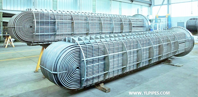 Heat exchanger tubes in U-bent tubes