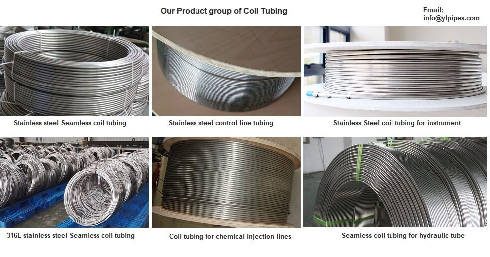 Stainless steel coil tubing, seamless coiled tube, coil tube manufacturer